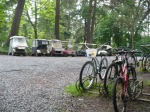 photo of some of Protection Island's bikes and golf carts