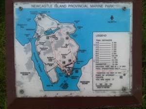 photo of map of newcastle island