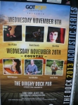 photo of poster for the Dinghy Dock Pub's Acoustic Series for November 2013